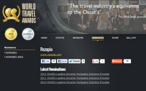 Rezopia Nominated at the World Travel Awards