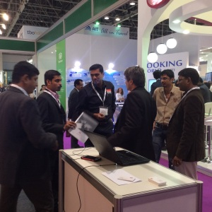 Meeting travel professionals at our stand during ATM